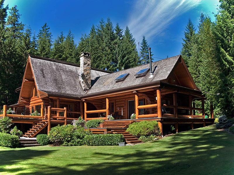 Cascade Handcrafted Log Homes Worldwide Distribution Ichilliwack