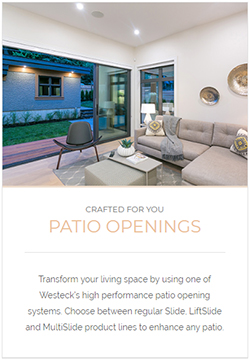 Westeck Patio Openings