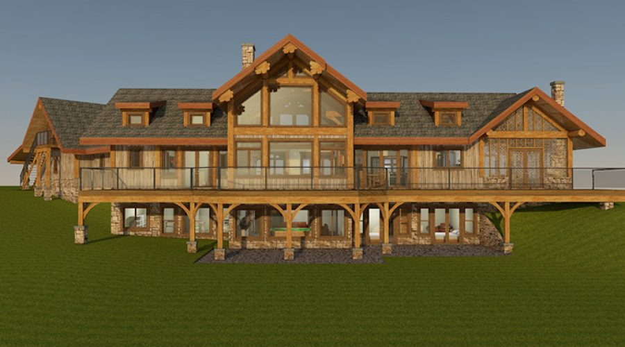 Log and Timber Frame Home – Log Home News