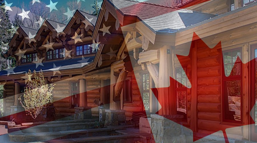 US to Canadian Exchange on Log Homes
